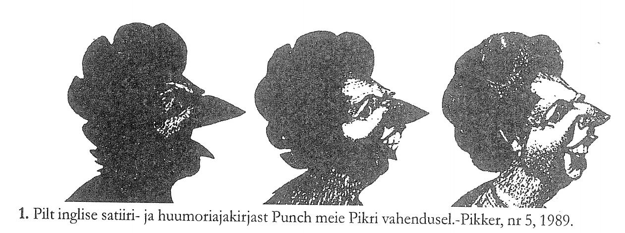 RiTo 1, Karikatuur 1. Pillt inglise satiiri- ja huumoriajakirjast Punch meie Pikri vahendusel.-Pikker, nr 5, 1989., Aare Kasemets