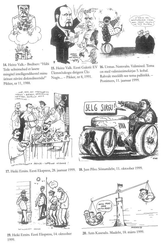 RiTo 1, Karikatuurid 14.-20., Aare Kasemets