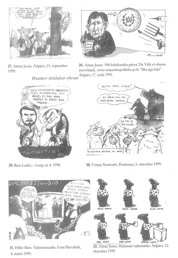 RiTo 1, Karikatuurid 27.-32., Aare Kasemets