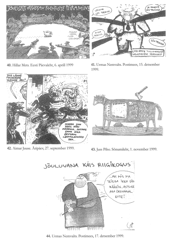 RiTo 1, Karikatuurid 40.-44., Aare Kasemets