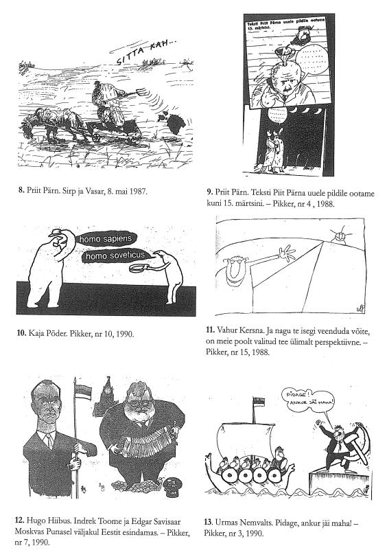 RiTo 1, Karikatuurid 8.-13., Aare Kasemets