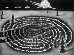 """Kaja Põllu """"Saatus"""", 1987, metsotinto"""