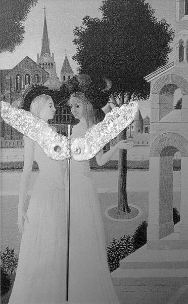 Urve Küttner - Brightness (2001, silver, enamel, gems, reproduction on transparency)