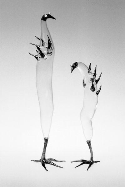 Maie Mikof-Liivik - Birds in spring (1999-2000, glass, furnace)