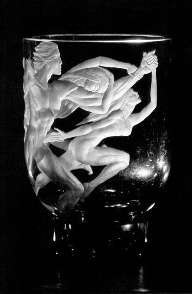 Pilvi Ojamaa - Myth (2000, glass engraving)