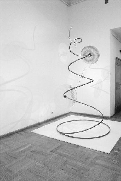 Eve Koha, Ivo Lill - Twister (2000, glass, metal)