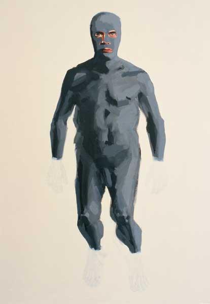 Alice Kask - Näoga mees (2003, õli, lõuend, 145 x 210)