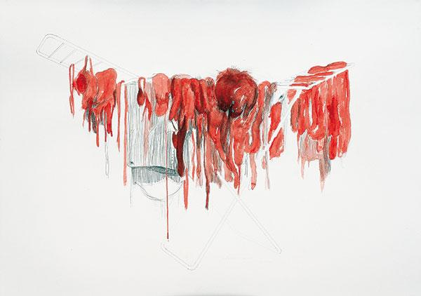 Laundry (2006, drawing, 71 x 96 cm)