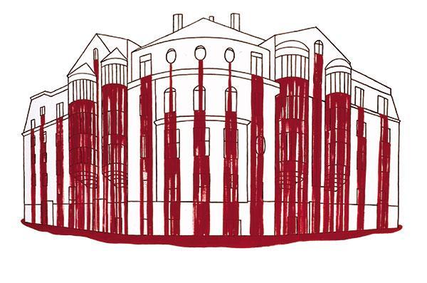 """Verine maja 1, sarjast """"Verised majad"""" (2004, õlimaal lõuendil 100 x 150 cm"""