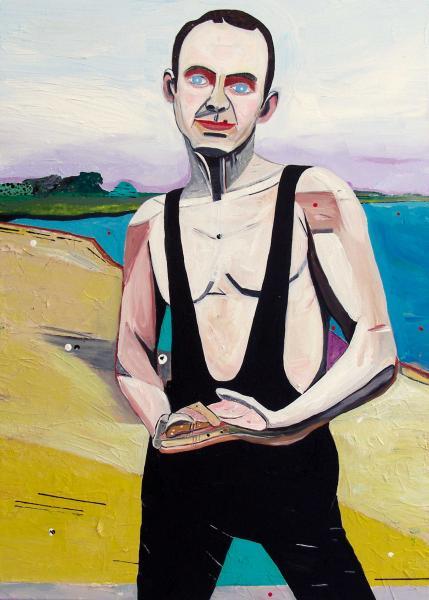 August Künnapu. August (2007, akrüül lõuendil, 70 x 50 cm)
