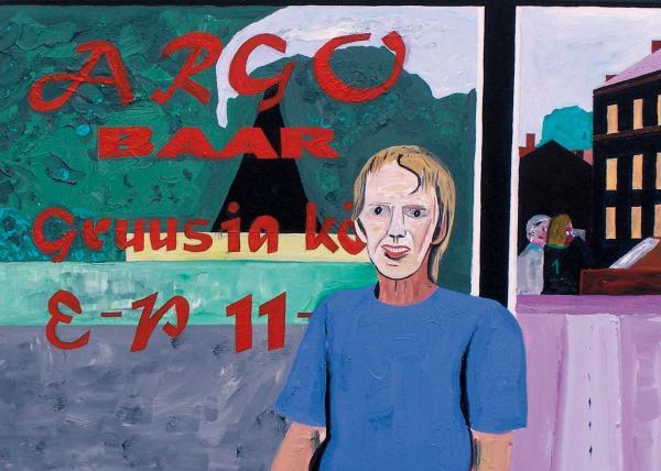 August Künnapu. Eik Gruusia restoranis (2007, akrüül lõuendil, 50 x 61 cm)