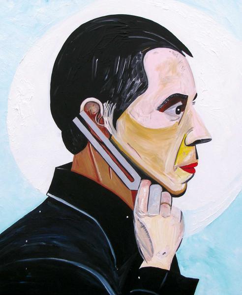 August Künnap. Jaan-Eik Tulve (2007, akrüül lõuendil, 120 x 100 cm)