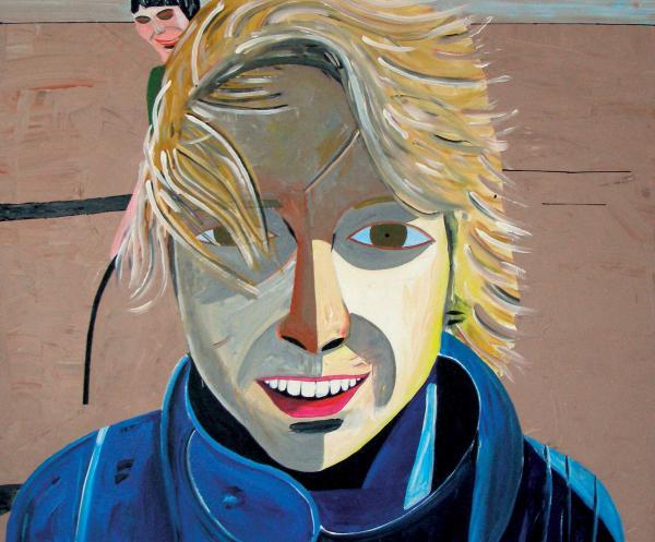 August Künnapu. Johanna Rannas (2007, akrüül lõuendil, 100 x 120 cm)