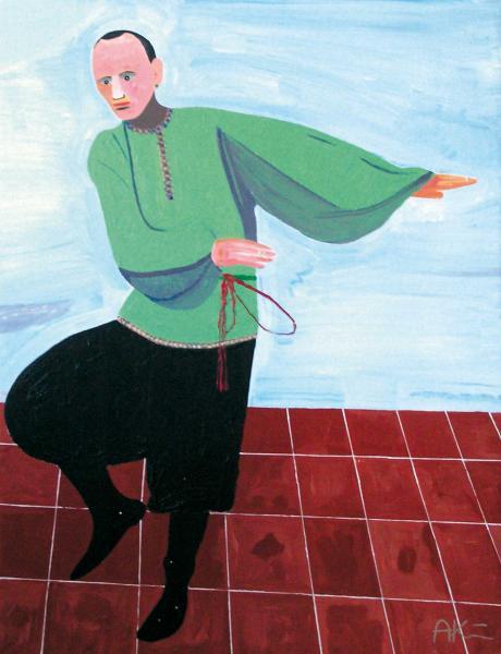 August Künnap. Ringtantsija (2006, akrüül lõuendil, 133 x 103 cm)