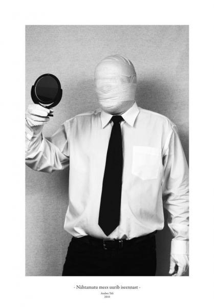 Andres Tali. Nähtamatu mees uurib iseennast (2010, digitaaltrükk, 125 x 165 mm)