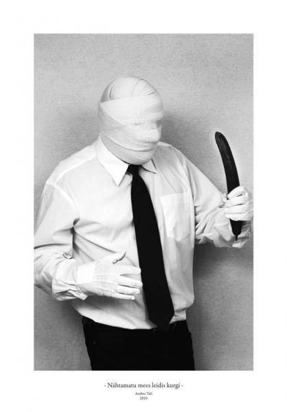 Andres Tali. Nähtamatu mees leidis kurgi (2010, digitaaltrükk, 125 x 165 mm)
