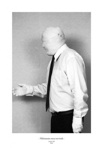 Andres Tali. Nähtamatu mees tervitab (2010, digitaaltrükk, 125 x 165 mm)