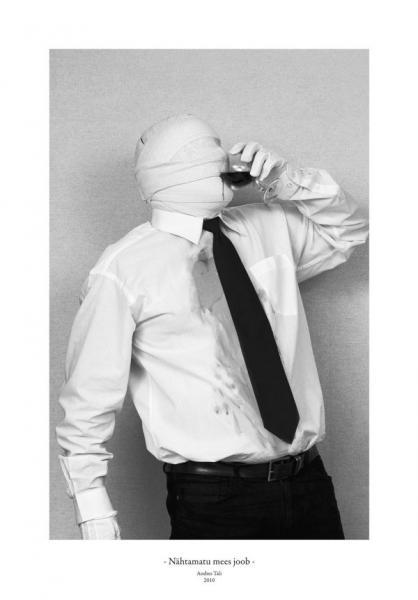 Andres Tali. Nähtamatu mees joob (2010, digitaaltrükk, 125 x 165 mm)