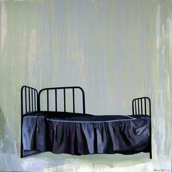 Laura Põld. Säng (2010, akrüül, lõuend, 200 x 200 cm)