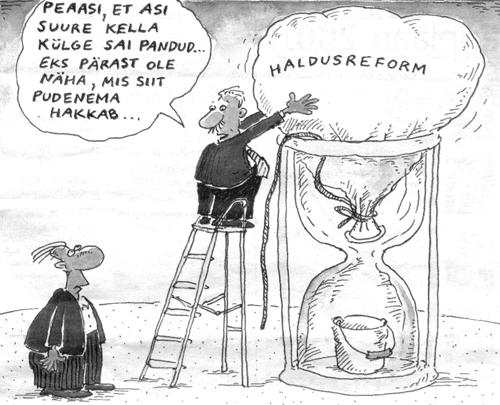 Aimar Juuse, Peaasi, et asi sai suure kella külge pandud. Äripäev, 12. sept 2000.