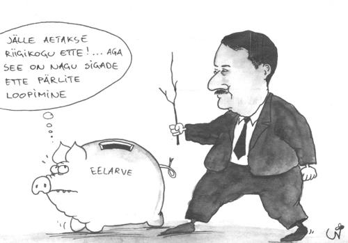 Urmas Nemvalts, Eelarvesiga – Siim Kallas ajab poliitikute lemmiklooma Riigikokku. Postimees, 18. jaan 2000.