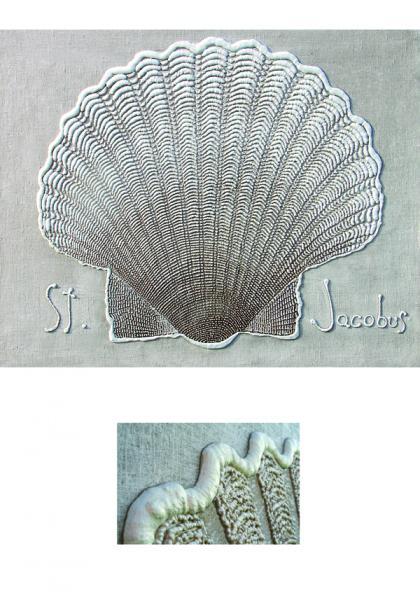 Siim-Tanel Annus. Merekarbid (2009, akrüül lõuendil, 125*100 cm). Maal asub Viimsi Püha Jaakobi kirikus