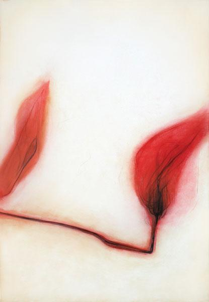 Virge Jõekalda - Wild garden II (2003, drypoint)