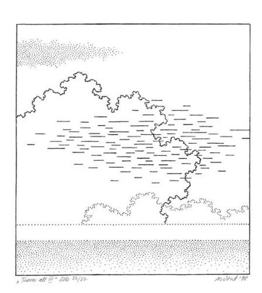 Mare Vint - Taeva all IV, 1998, litograafia