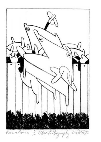 Andres Tolts - Variations V, 1991, litograafia