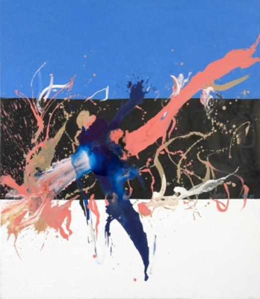 Lola Liivat – To Freedom (2008, mixed media / canvas, 150 x 130 cm). Reproduction: Stanislav Stepaško