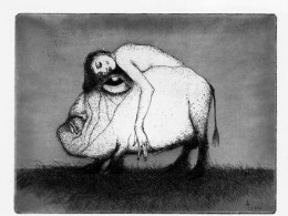 "Ado Lill ""Union"", 2000, etching, aquatint"