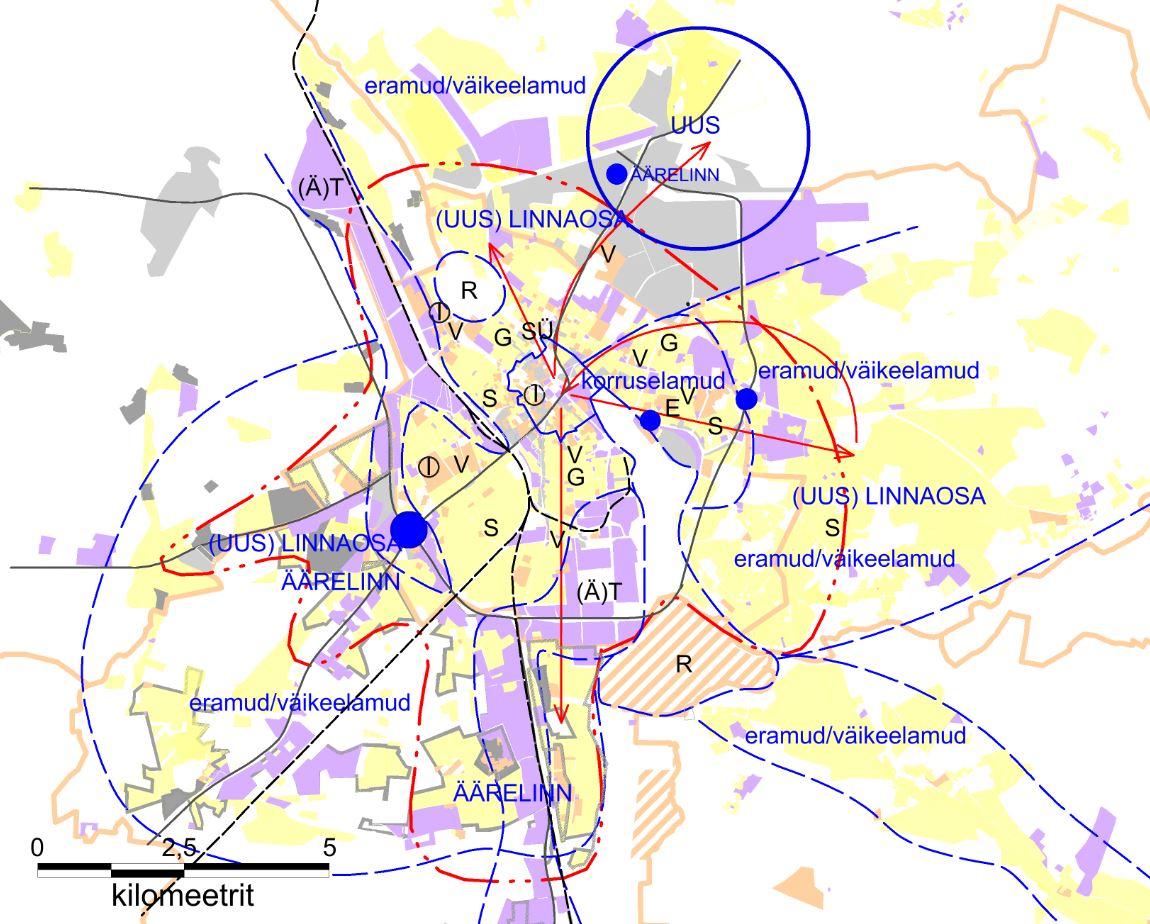 JOONIS 5. Tartu linaaregiooni lähituleviku mudel