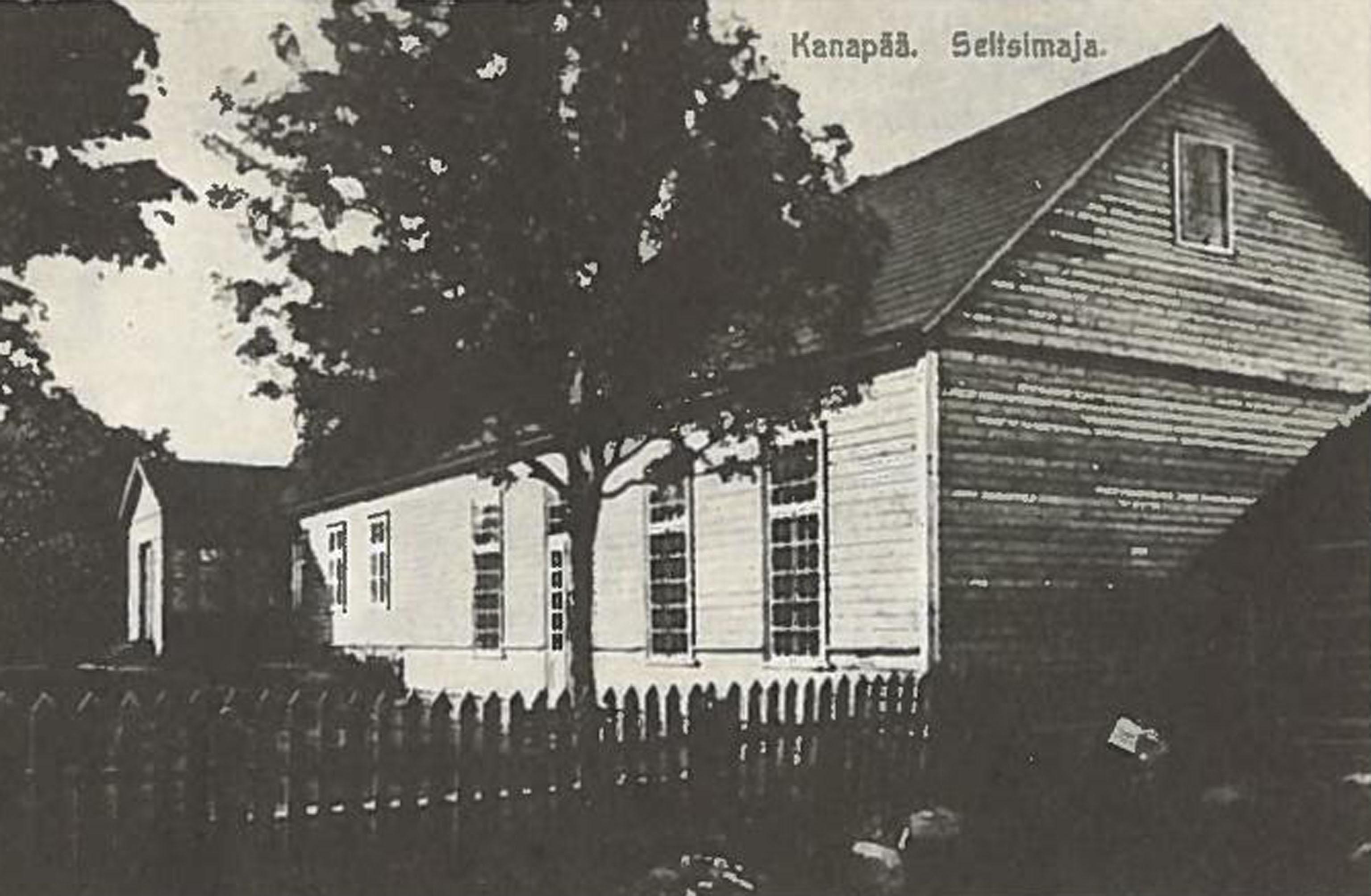 Eesti esimene seltsimaja Kanepis, ehitatud Kanepi Muusikaseltsi poolt 1887. Foto: E. Karu erakogu, kasutatud omaniku loal