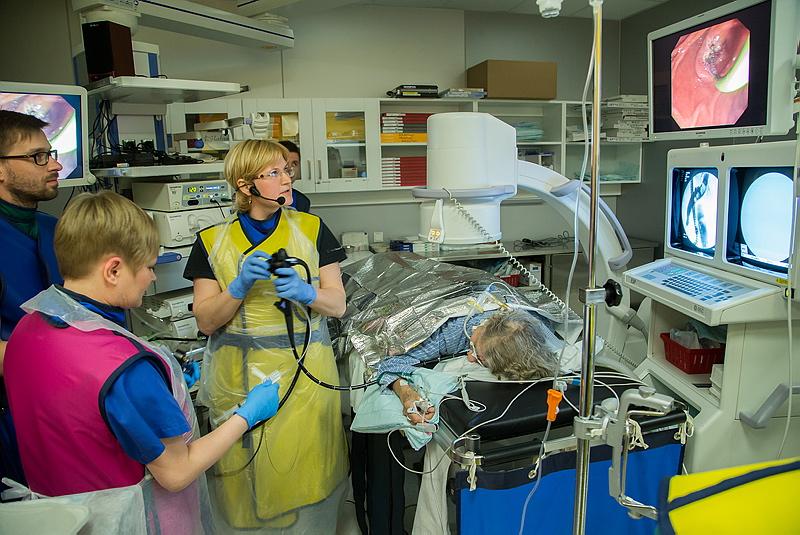 Endoskoopilise retrograadse kolangiopankreatograafia päev Tartu Ülikooli sisekliinikus. Meetodit kasutatakse maksa, sapipõie, sapi ja pankrease diagnostikas ja ravil