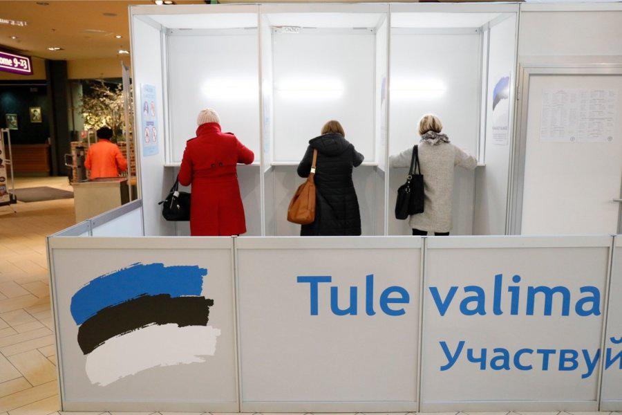 Eelhääletamine Solarise keskuses. Foto: Andres Putting