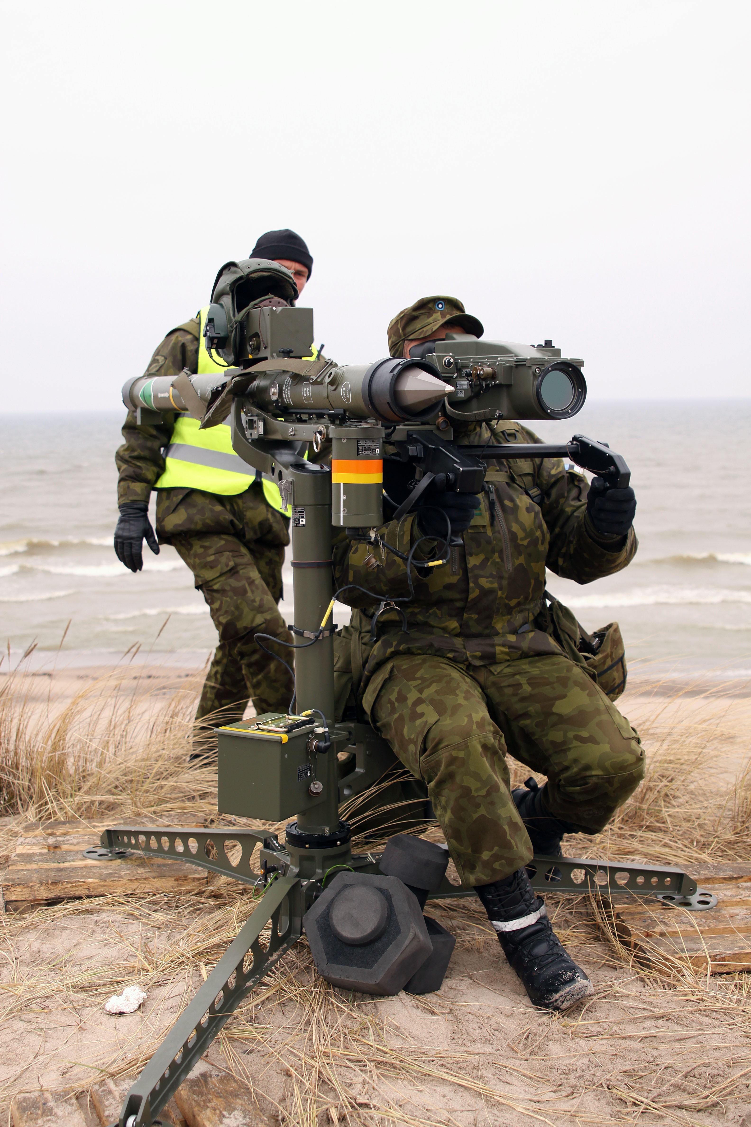 Eesti õhutõrjepataljoni lahinglaskmised 2010. aastal. Foto: Ants Laaneotsa erakogu