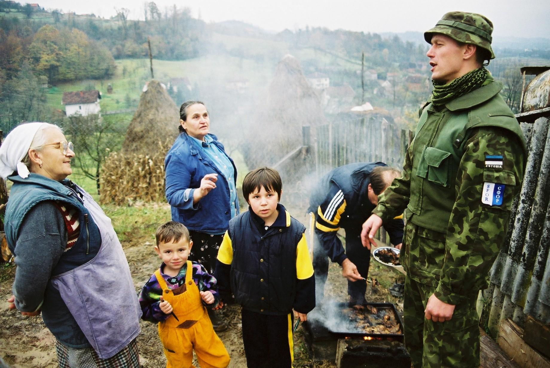 Eesti sõdur Bosnias. Foto: Ants Laaneotsa erakogu