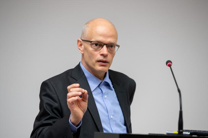 Ülo Niinemets Eesti teaduse tippkeskuste infopäeval Tartus, Omicumis 25.05.2018.
