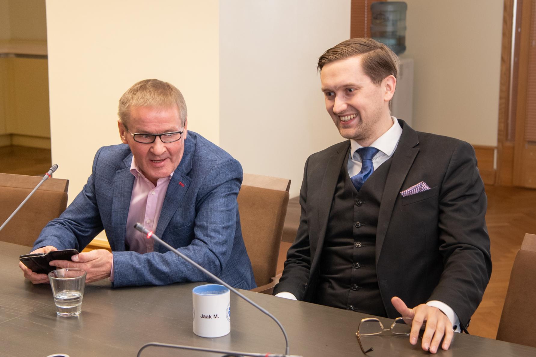 Jaak Aab (Keskerakond) ja Jaak Madison (EKRE). Foto: Erik Peinar