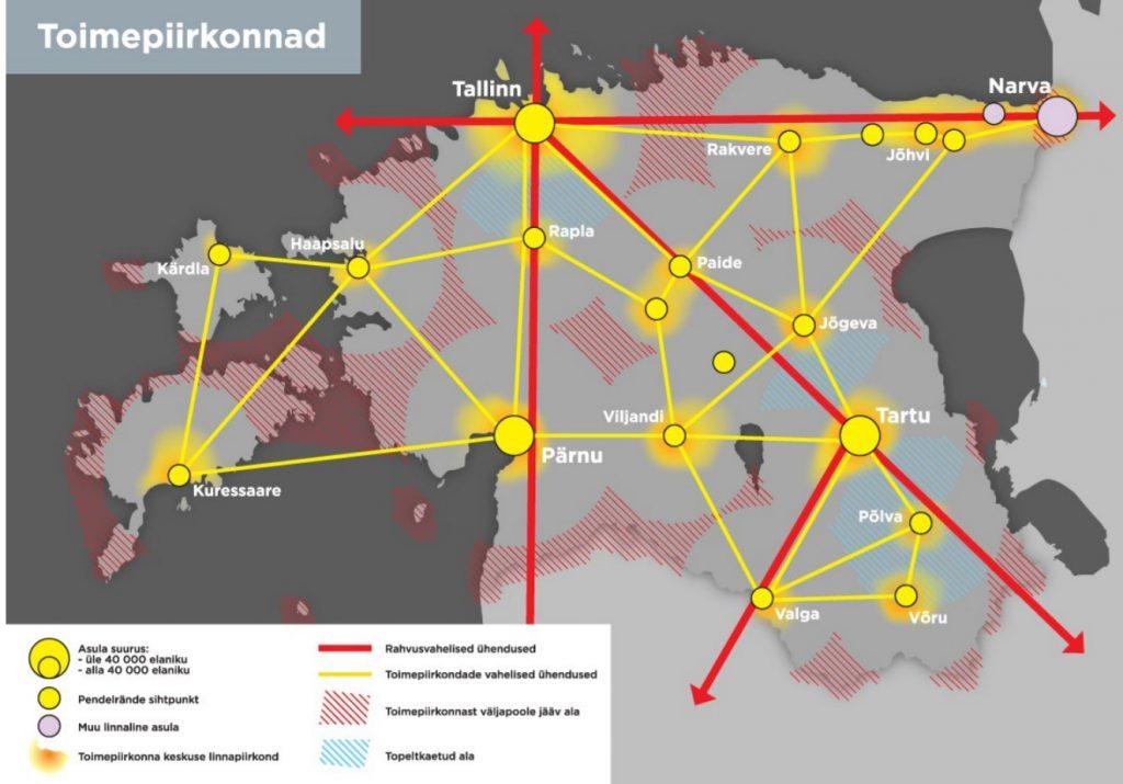 JOONIS 6. Toimepiirkonnad Eestis aastal 2030