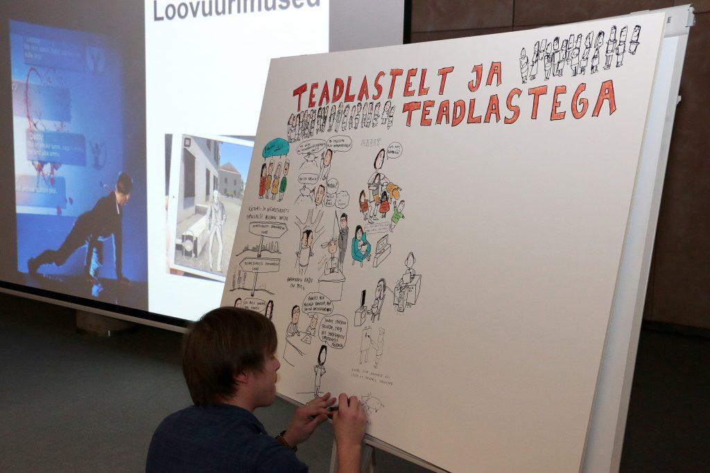 """Seminar """"Teadlastelt ja teadlastega"""" Tallinna Ülikoolis."""