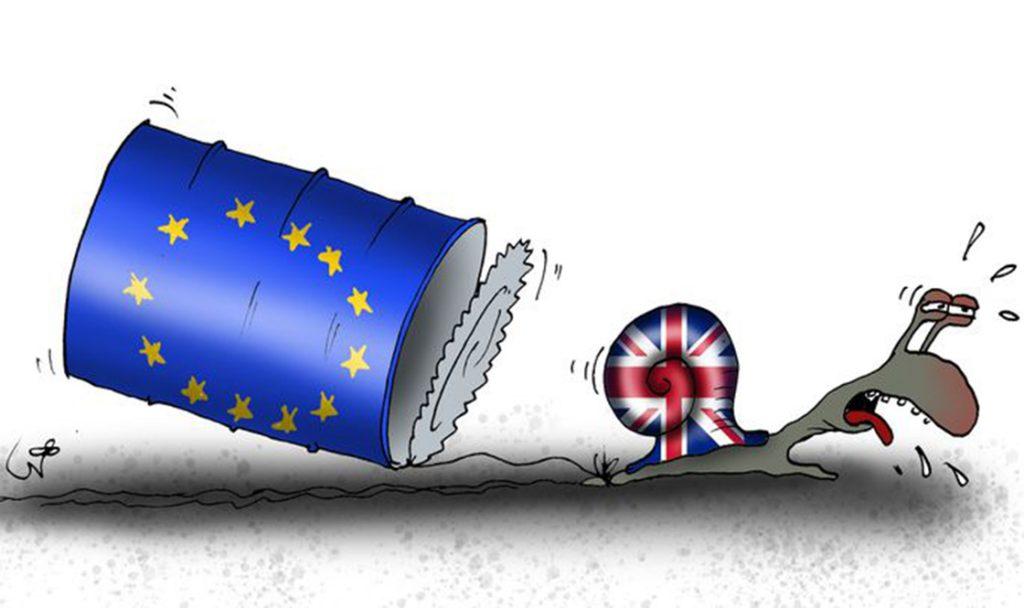 Ei ole Brexitil seda minekut. Karikatuur Urmas Nemvalts