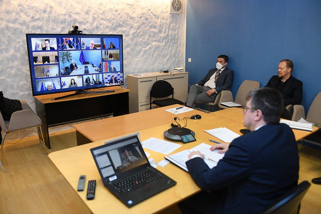 EL välisministrite videokonverents 3. aprill 2020