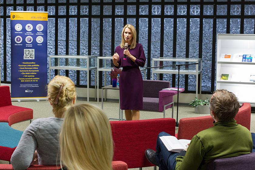 Infokeskusel oli veebruaris 2017 külas Euroopa Parlamendi saadik Kaja Kal-las. Foto: Teet Malsroos