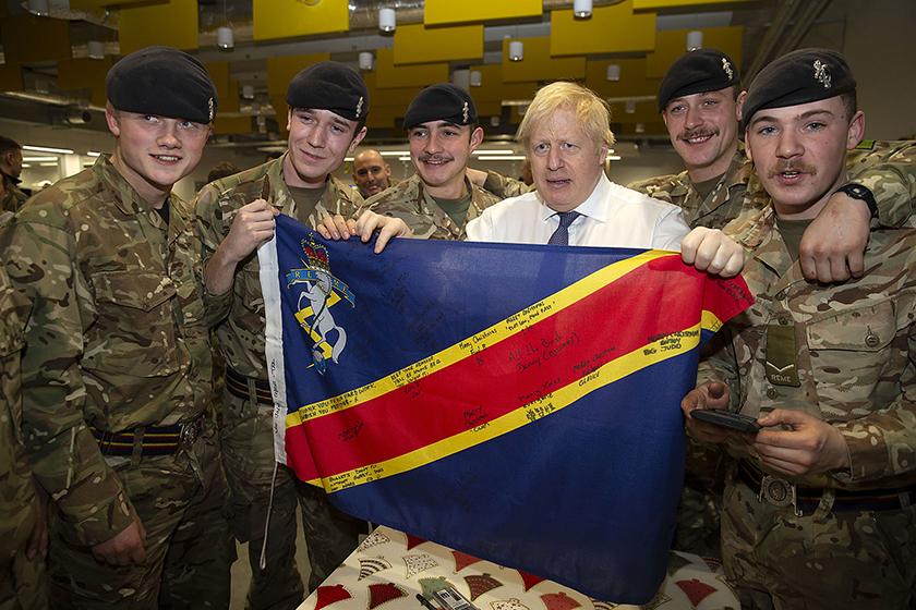 Briti peaminister Boris Johnson külastas 21. detsembril 2019 Tapa sõjaväelinnakut Foto: Kaitseväe pildigalerii