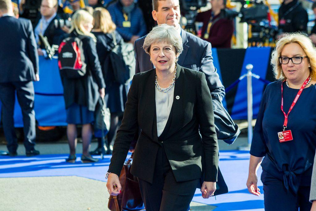 Ühendkuningriiri peaminister Theresa May saabub Tallinna Digisummitile 29. septembril 2017 Foto: Aron Urb, Välisministeerium