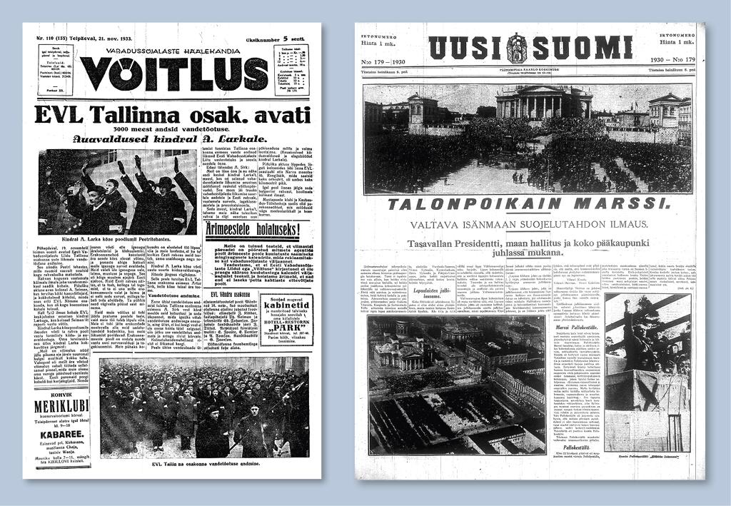 Soomes eemaldati võimu juurest kommunistid ja Lapua liikumine, Eestis vabadussõjalased